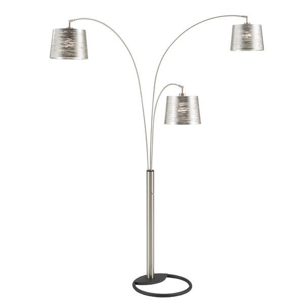 Mori Polished Nickel Three-Light Tree Floor Lamp, image 1